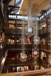 Inside the atrium of Liberty of London